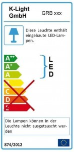 mit LED Beleuchtung (beleuchteter Griffraum) und Bewegungssensor - Energieeffizienzklasse A