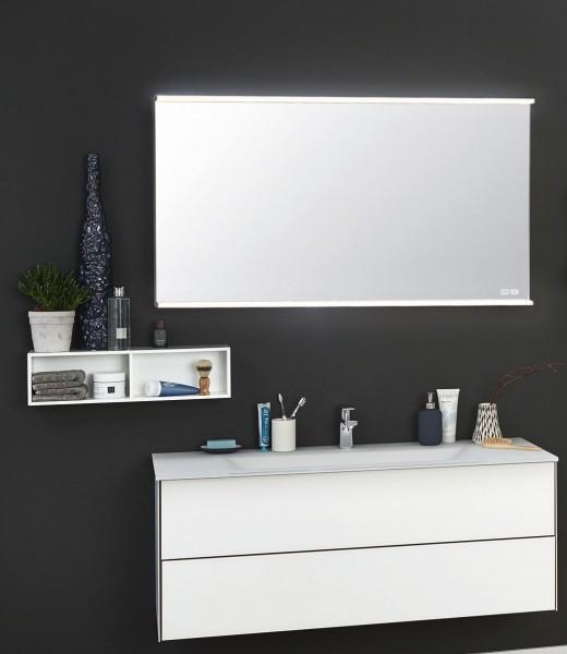 Puris Ice Line Kombination 120 cm - Einzelwaschtisch-Lösung mit Flächenspiegel
