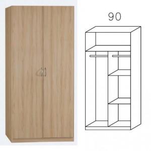 3731 Drehtürenschrank, Breite 91 cm