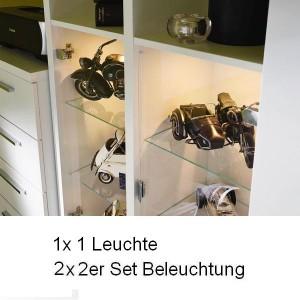 5x Leuchte (1x 9L1A 1er Set, 2x 9L2A 2er Set)