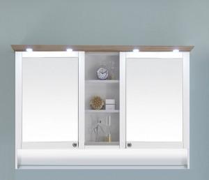 9030-SPSB 09 Spiegelschrank mit LED-Kranzbodenbeleuchtung und Beleuchtung im offenem Fach