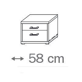 641H - 2 Schubkästen-Holzdekor- Breite 58 cm
