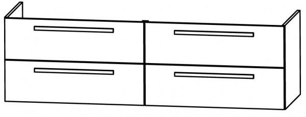 Puris Star Bad-Konfigurator Block 160 cm - für Doppel-Glaswaschtisch