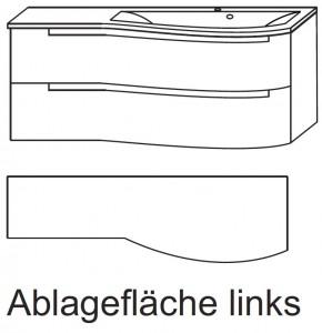 Waschplatz SETP212L - Ablagefläche links