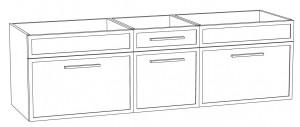 Waschtischunterschrank DWMDASAA16 (160 cm)