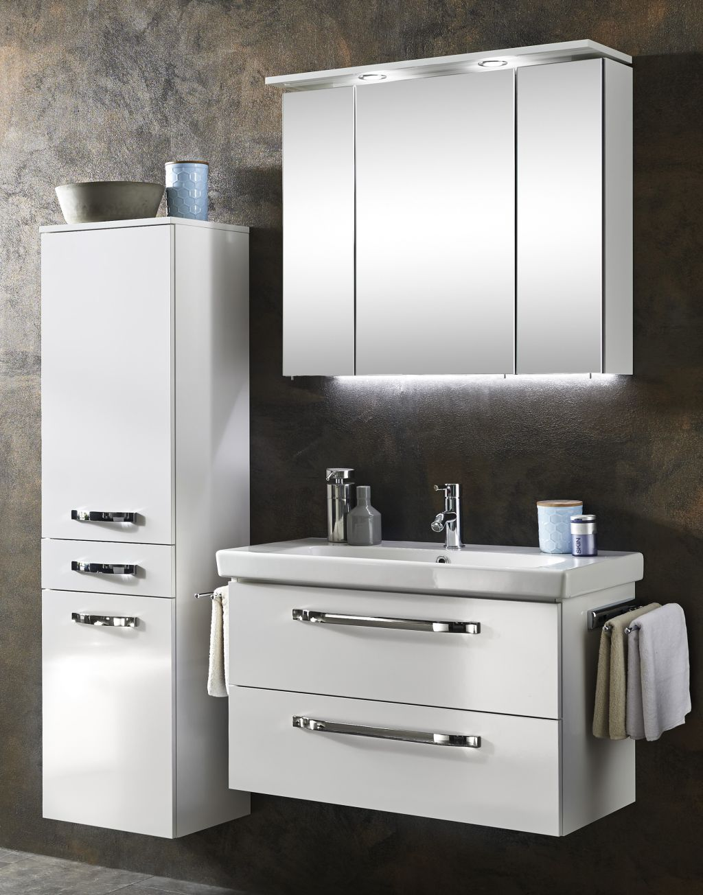 marlin bad 3060 kombination 80 cm keramik 1 g nstig kaufen m bel universum. Black Bedroom Furniture Sets. Home Design Ideas