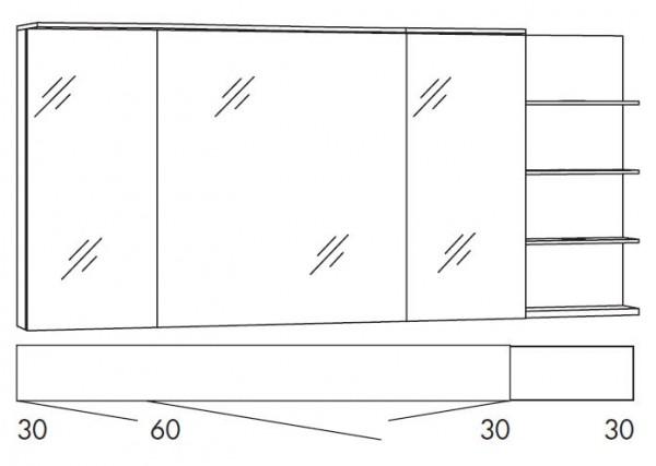 Marlin Bad 3160 - Motion Spiegelschrank 150 cm SAOS363R / SAOS363RLS / SAOZ363R / SAOSZ363RLS