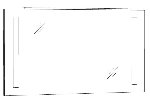 Marlin Azure Spiegelpaneel 120 cm SPFLS12