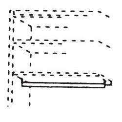 565123 Kleiderstange für Kleiderschrank 2-türig, Breite 97 cm