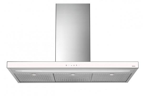 Falmec Luce 90 W, Design, Wandhaube, 90 cm, Edelstahl / Glas weiß