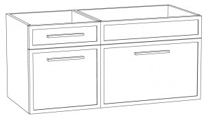 Waschtischunterschrank DWMDASA10 (100 cm)