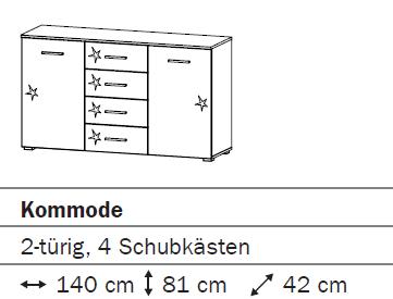 Rauch Packs Celle Kombikommode 67B6