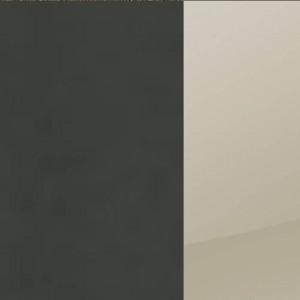Korpus Grau-metallic / Front Hochglanz Sandgrau