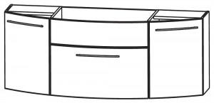 Waschtischunterschrank 140 cm WUA35141M