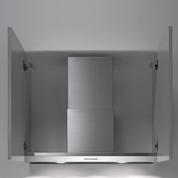 Falmec Virgola 60, Design, Einbauhaube, 60 cm breit, Edelstahl / Glas